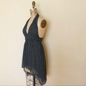 DVF halter star print dress